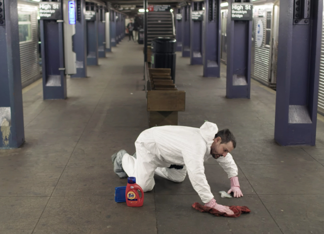 Watch As One Determined Man Tries To Clean This Dirty Subway Station