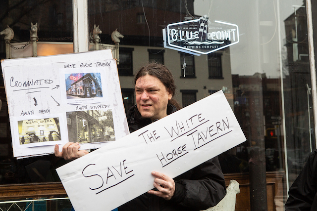 West Village Locals Hold Rally And Irish Wake For The White Horse Tavern