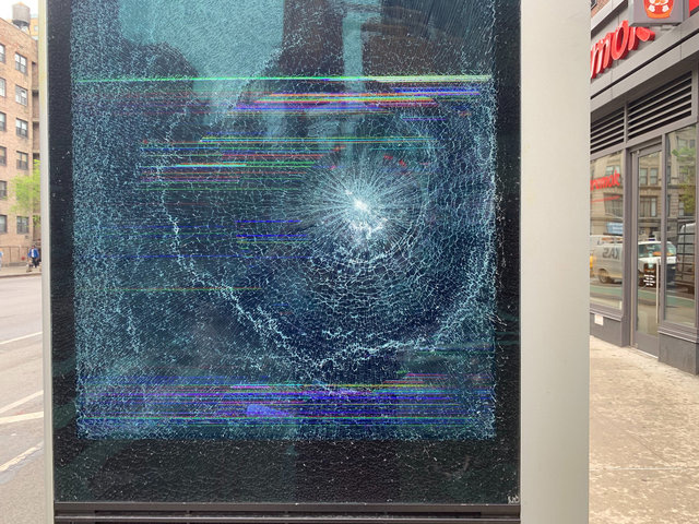 Video Shows Serial LinkNYC Vandal Slamming Brick Into Kiosk