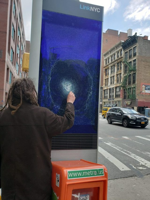 Someone Smashed The Hell Out Of Dozens Of LinkNYC Kiosks