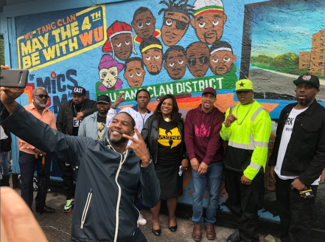 Wu-Tang Clan Officially Unveil 'Wu-Tang Clan District' Street Sign On Staten Island
