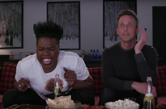 Video: Leslie Jones & Seth Meyers Watch The Series Finale Of 'Game Of Thrones'