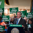 De Blasio Holds Campaign-Style Rally In Trump Tower