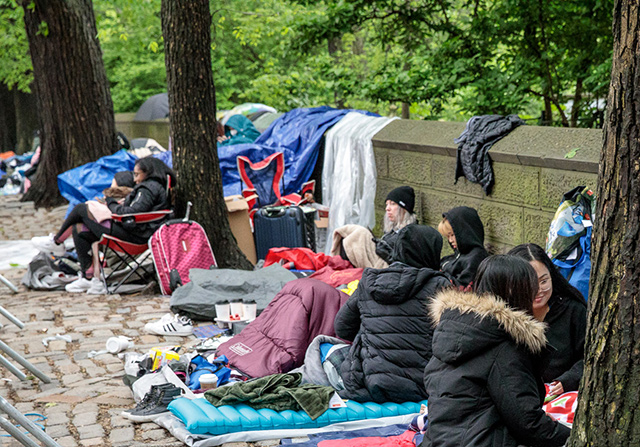 The BTS ARMY Has Been Camping Out Near Central Park Since Last Week To See K-Pop Sensation