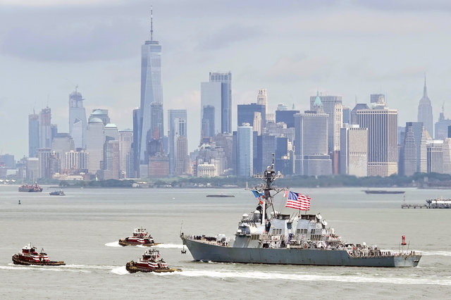 Fleet Week's Parade Of Ships Arrives On Wednesday Morning
