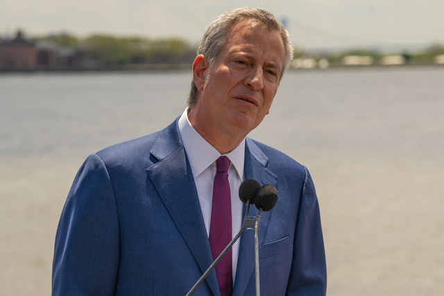 On First Day As Presidential Candidate, De Blasio Takes On 'Con Don' And 'Meanspirited' New Yorkers