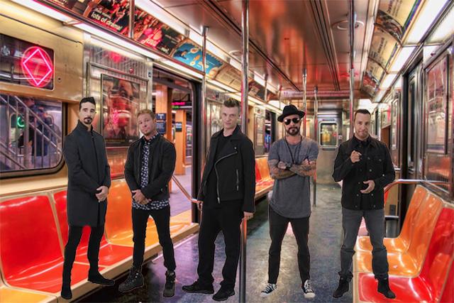 Watch A Delightful, Spontaneous Backstreet Boys Sing-A-Long Break Out On The Subway - Gothamist