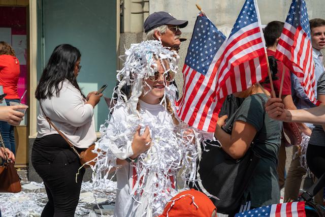 Photos: Sports Fans Flood Ticker-Tape Parade for U.S. Women's National Soccer Team
