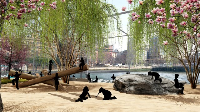Manhattan Gets A Beach: An Early Glimpse Of The New Park Coming To Gansevoort Peninsula