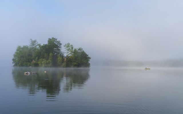 This Private Island Engulfed In Fog Is Near NYC & Can Be Your All Yours