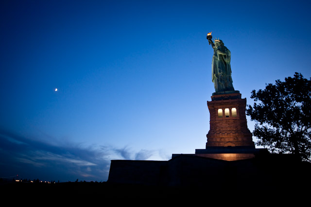 Statue of Liberty on the night