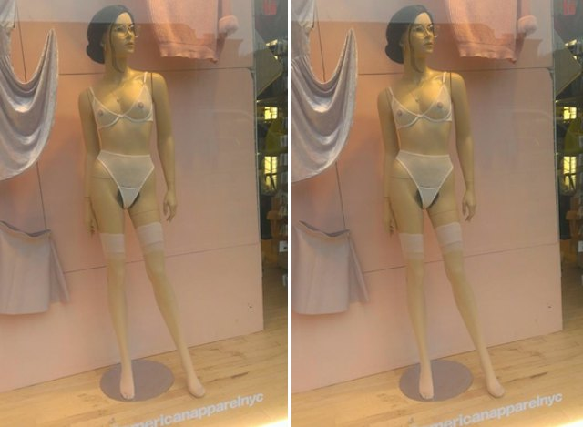 Photo: American Apparel Mannequins Now Sporting Full Bush