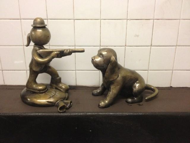 Πυροβολώντας τον σκύλο για μια ταινία...