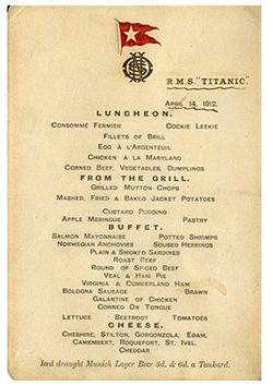 Last Lunch on the Titanic