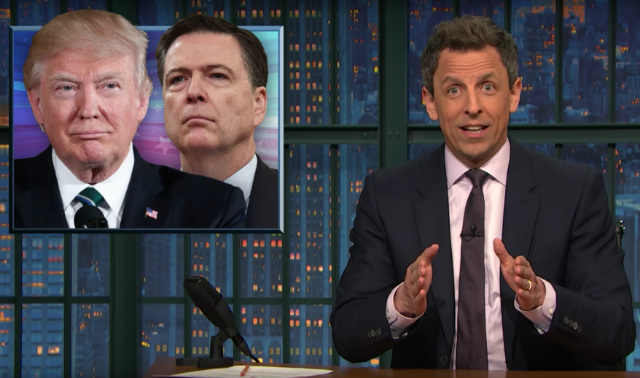 Seth Meyers Can't Believe Trump's 'Crazy' Tweets During Comey Hearing