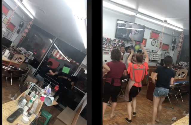 Nail salon brawl caught on video sparks protests in Brooklyn