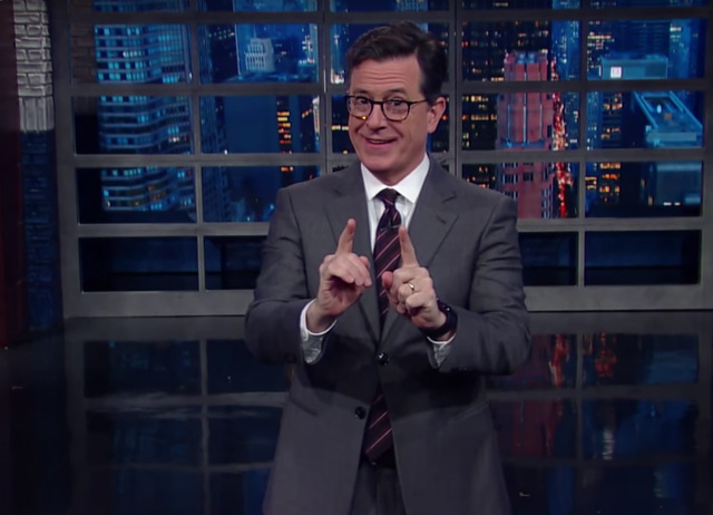 Stephen Colbert Tries To Find Humor In Horrifying Trump White House Transition