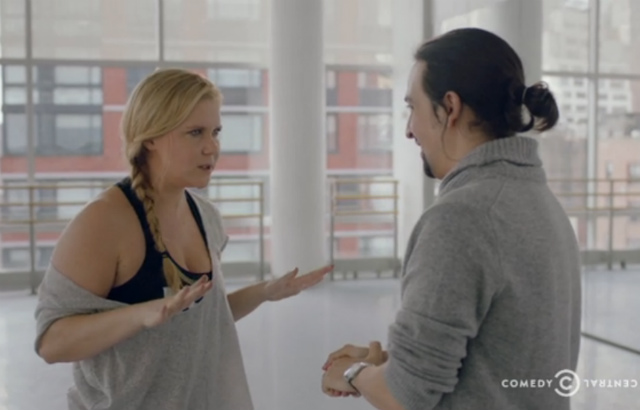 Watch Lin-Manuel Miranda Sit Through Amy Schumer's 'Hamilton' Rip-Off