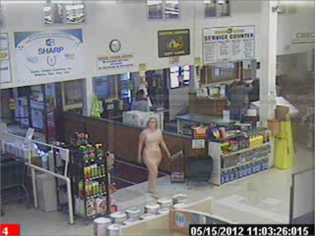 After She Walked Through A Lumber Store And Convenience Shop Naked