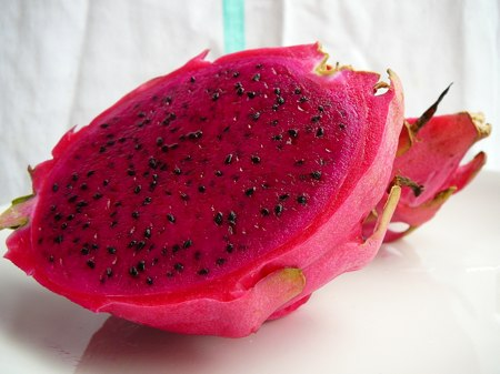Because dragon fruit (pitaya plant) pollination occurs only at night,