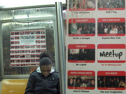They're apparently using some of this money to buy ads on the subway.