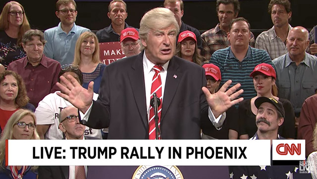 Alec Baldwin reprises President Trump spoof for 'Weekend Update' closer