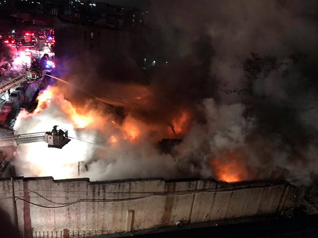 Fire Ravages Historic Marcal Paper Plant In New Jersey