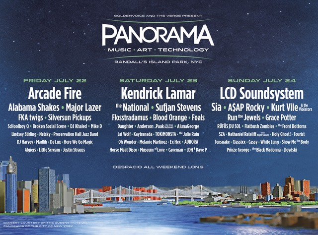 LCD Soundsystem, Kendrick Lamar, and Arcade Fire Headlining New NYC Panorama Festival