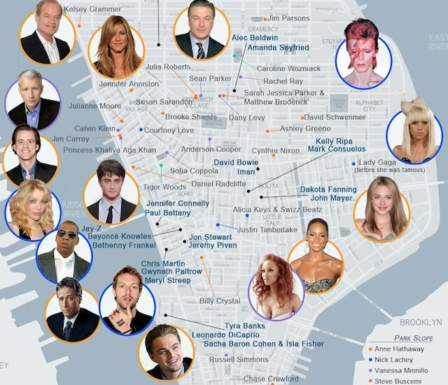 NYC Star Map Feeds Your Healthy Celebrity Worship