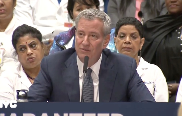 New York City mayor announces $100 million health care program