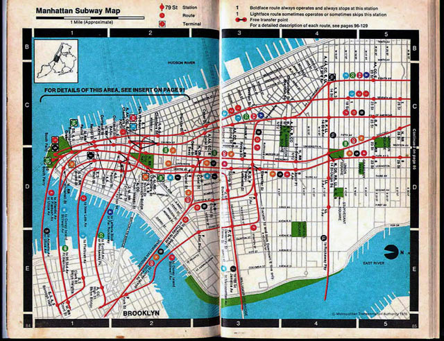 new york city subway map. 1 (from quot;Seeing NY,