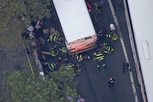 City bus fatally strikes woman in Financial District
