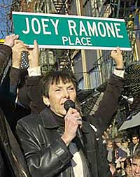 Joey Ramone Place sign; Photo: NY Post