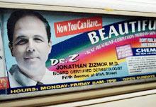 Dr. Zizmor in the subway; Photo: NY Post